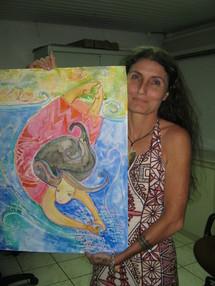 Des reproductions d'une oeuvre de Sarahina (Sabrina Levy Birk) interprétant le conte seront en vente pour la somme de 1000fr.