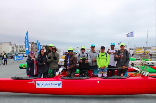 L'équipe Hinaraurea arrivée de Raiatea