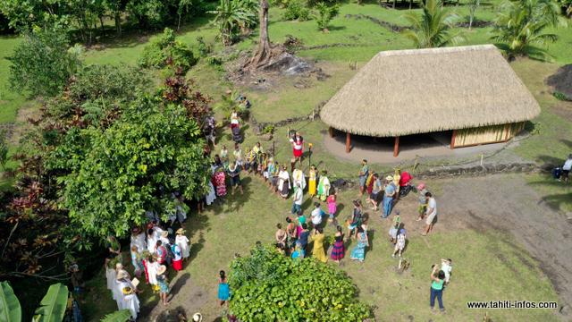 Le nouveau fare rapa'aura'a situé au Fare Hape à Papenoo a été inauguré samedi matin.