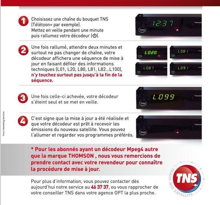 Télévision TNT par satellite: les procédures à suivre pour remettre vos décodeurs à jour