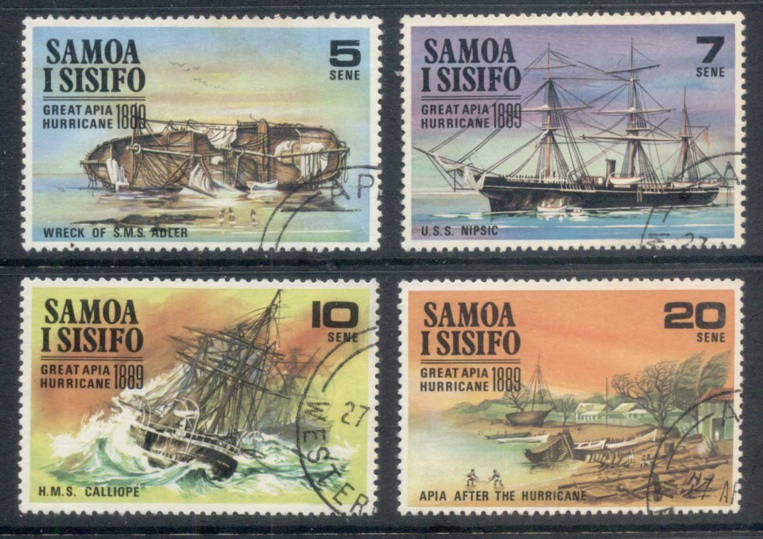 Samoan Post paid tribute to Apia drama by issuing four commemorative stamps.