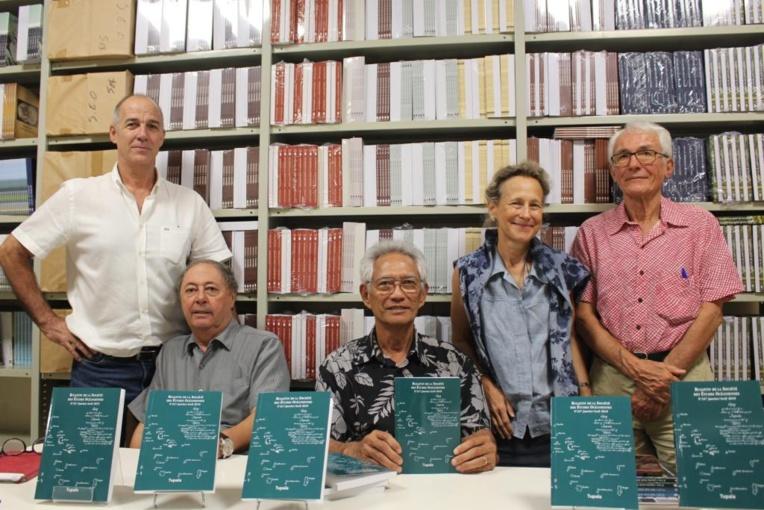 De gauche à droite : Robert Veccella, Riccardo Pineri, Jean Kape, Véronique Dorbe-Larcade et Robert Koenig.