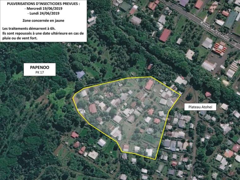 Des pulvérisations d'insecticide à Hitia'a o Te Ra