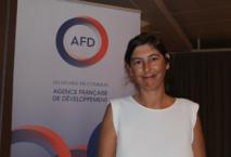 Pauline Baumgartner, directrice adjointe de l'Agence française de développement (AFD), lors de la présentation du bilan de la Sogefom.