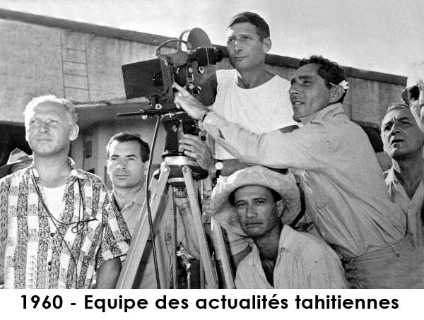 Au cinéma on a projeté des films, des documentaires, mais aussi des informations. Dans les années 1960, une société de production polynésienne filmait les informations que tu vois aujourd'hui à la télévision pour le cinéma.