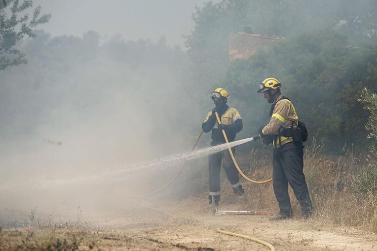 Un incendie hors de contrôle en Espagne