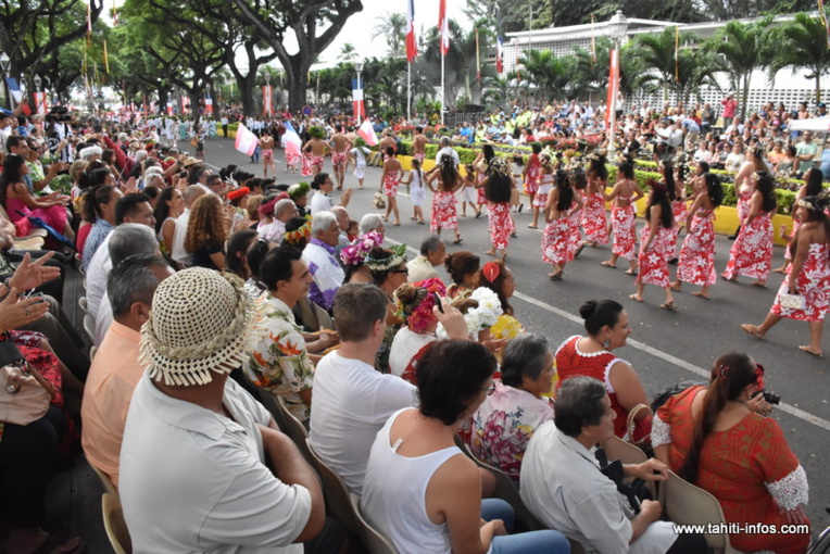 Le grand défilé populaire de la Fête de l'Autonomie s'est déroulé de 15 h à 17 h samedi avenue Pouvana'a a Oopa.