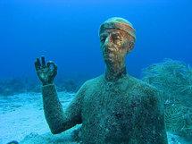 Buste du commandant Cousteau (12 m), Réserve Cousteau - îlets Pigeon, Guadeloupe