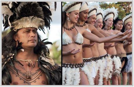 Une délégation de l'Île de Pâques au Festival des Marquises 2011