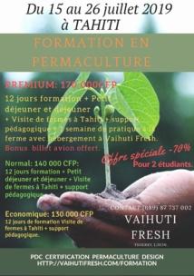Une formation à la permaculture en juillet à Tahiti