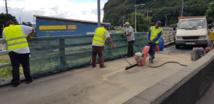Des travaux sur le viaduc de la Punaruu