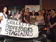 Les professeurs stagiaires réunis devant le TA le 7 septembre dernier