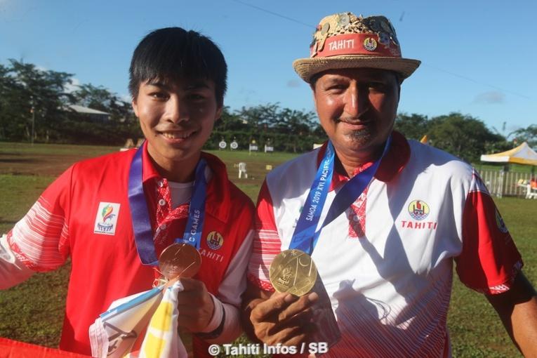 Les archers tahitiens repartent des XVIe Jeux du Pacifique avec 4 médailles dans leurs valises (1 en or, 1 en argent et 2 en bronze).