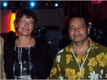 Florence ROBINE, Recteur de l'Académie de Guyane et Christian MORHAIN, directeur de l'enseignement primaire.
