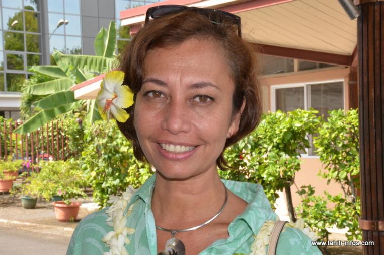 Nicole Sanquer candidate à Mahina