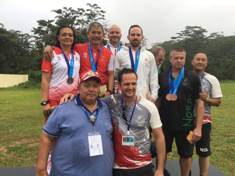 Freddy Yen Kway a décroché l'or au tir au pistolet en individuel, et l'argent en équipe avec Maeva Normand. (© Fédération Polynésienne de Tir)