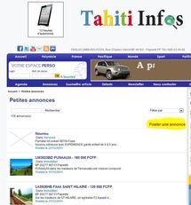 Sur Tahiti Infos, vous pouvez déposer vos petites annonces gratuitement