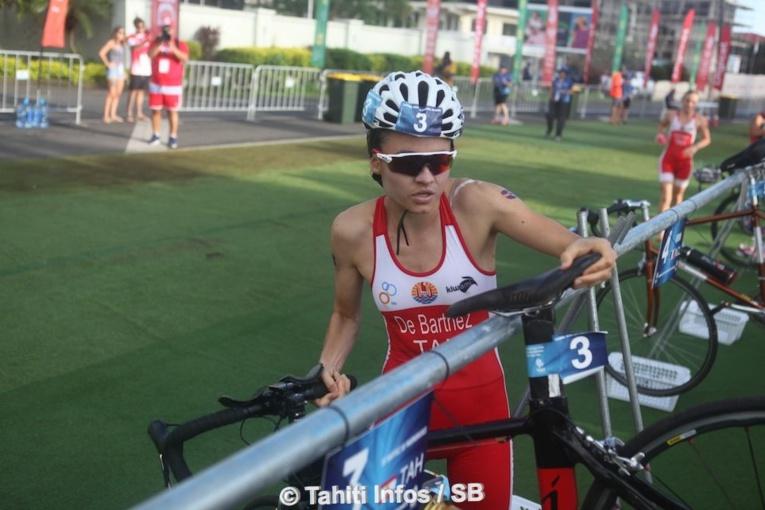 Salomé De Barthez a trouvé plus forte qu'elle en vélo