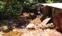 Des pluies record endommagent un village calédonien