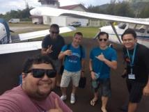 Pour le 14 juillet, l'aéroclub a organisé une sortie à Huahine avec trois avions et une dizaine de pilotes et élèves en formation.