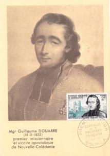 En 1953, la Nouvelle-Calédonie a rendu un hommage philatélique à Mgr Douarre, à l'occasion du centenaire de sa mort (col.DP).
