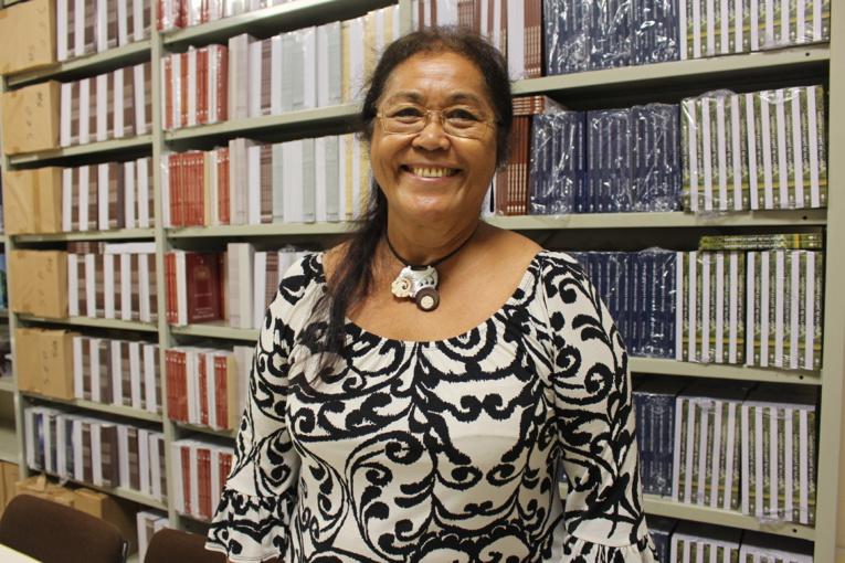 Vāhi Tuheiava-Richaud, présidente de la Société des études océaniennes