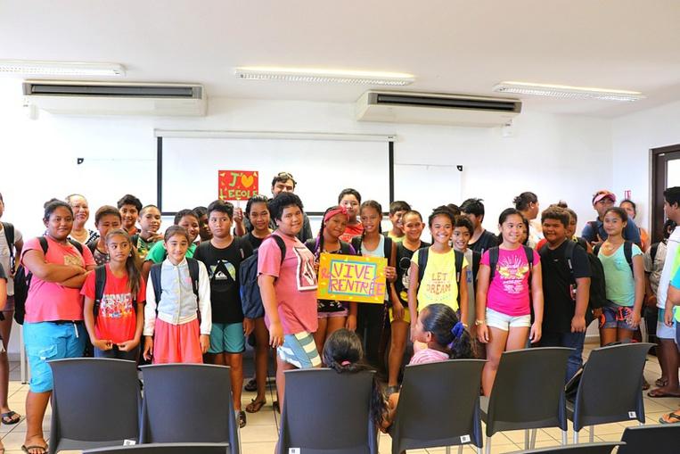 Ces 80 élèves ont été sélectionnés par les équipes pédagogiques des écoles primaires et par le service des affaires sociales de Faa'a.