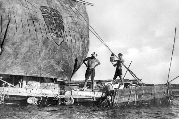 Page enfant : Le 7 août 1947, le Kon-Tiki arrivait en Polynésie
