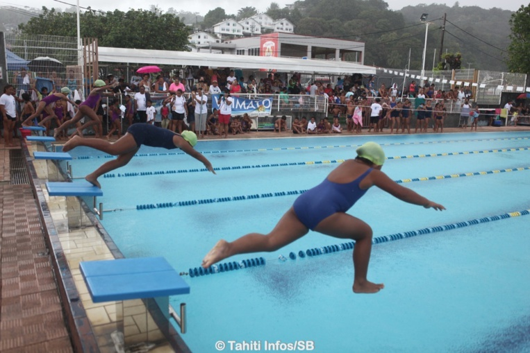 Des courses sur 25 mètres ont été proposées aux jeunes
