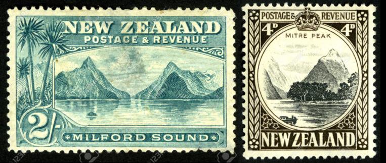 La Nouvelle-Zélande a rendu deux hommages philatéliques à ce site exceptionnel de sa côte sud-ouest.