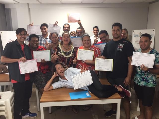 La Team Pain Pâté est prête à se lancer dans la création d'entreprise (photo Tahiti Formation)