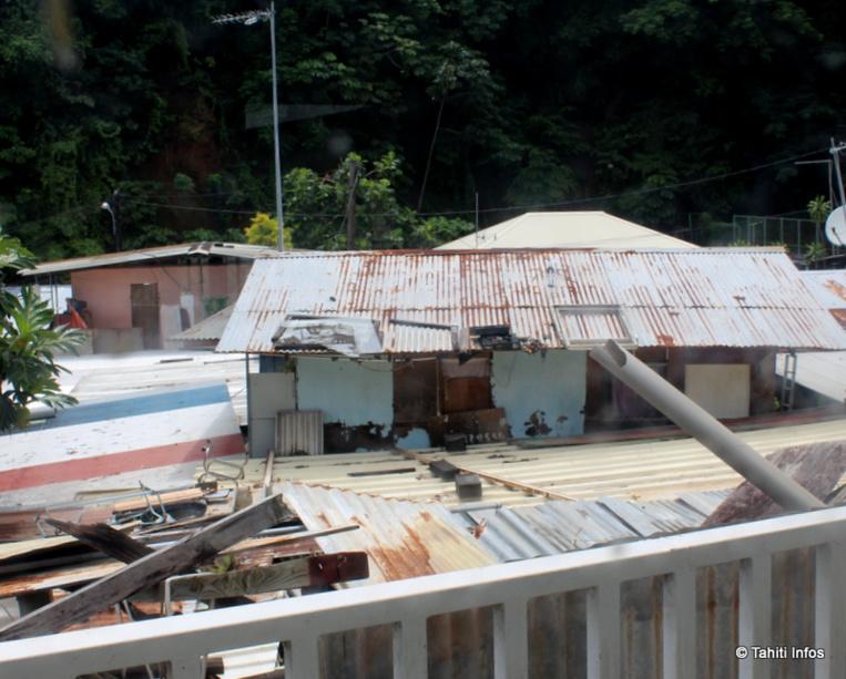 Le quartier de Mama'o Vallon ressemble à une favela avec son habitat insalubre.