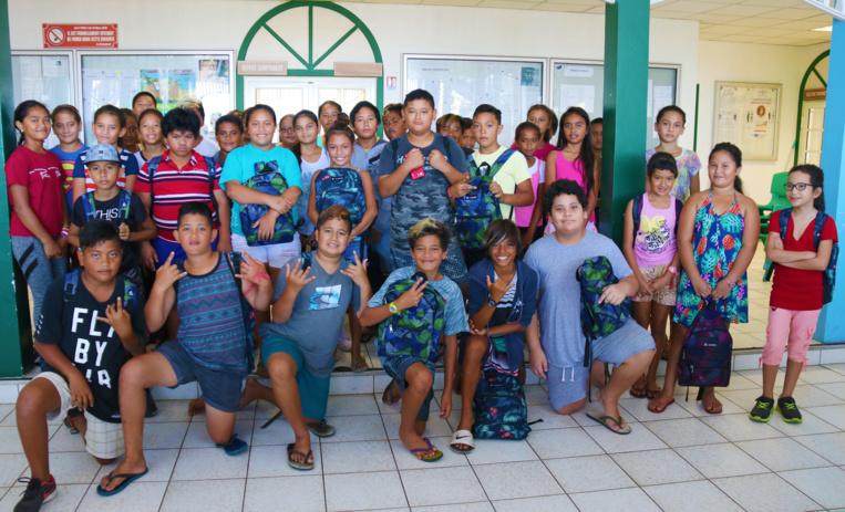 50 enfants de Paea prêts pour la rentrée
