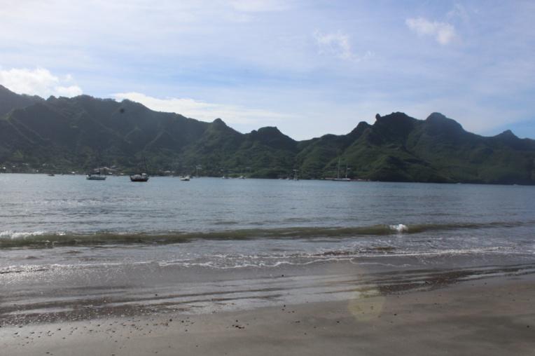 La baie de Taiohae, à Nuku Hiva.