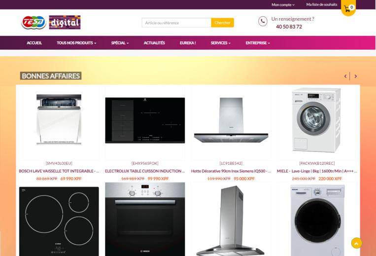 Les promotions du magasin TESA Digital à Fare Ute sont disponibles sur le site tesa.pf en temps réel. Vous ne raterez plus jamais une bonne affaire !