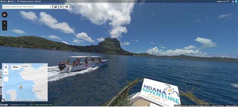 Il est désormais possible de se balader virtuellement sur le lagon de Bora Bora.