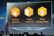 Présentation du principe de reconnaissance vocale gestuelle et visuelle au CES de Las vegas
