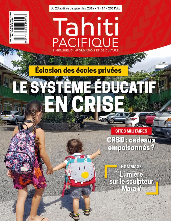 À la Une de Tahiti Pacifique vendredi 23 août