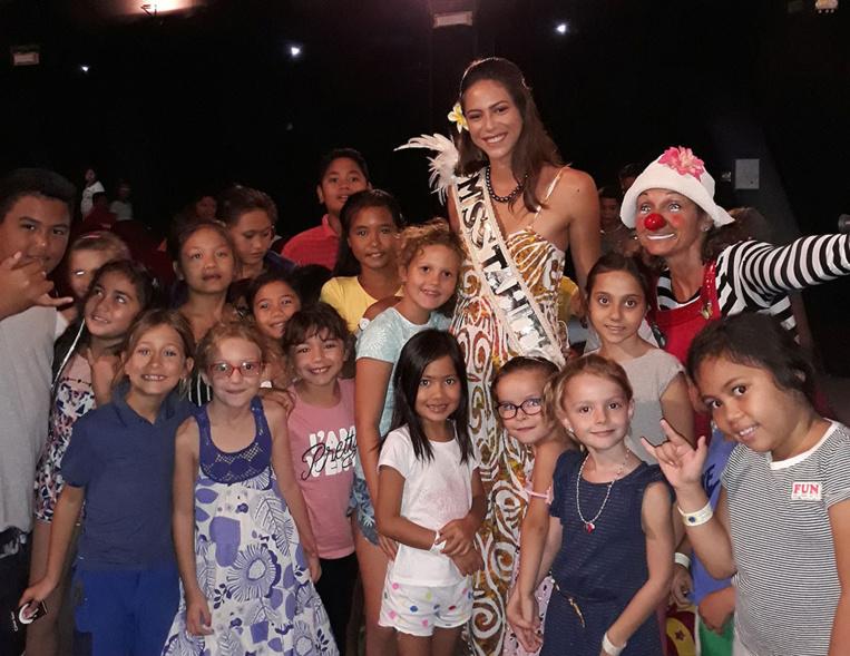 En ouverture de la séance, les cinéphiles en herbe ont rencontré la belle Matahari Bousquet, Miss Tahiti 2019.