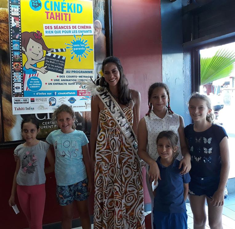 Cette fan de cinéma adhère pleinement au concept de Cinékid. Elle l'a prouvé en restant toute la matinée aux côtés des enfants.