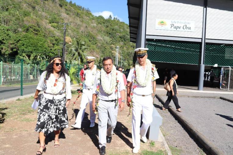 Le haut-commissaire Sorain en visite à Papeete