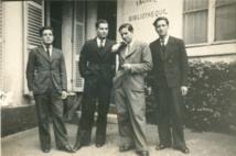 André Vernier à gauche et ses frères. A sa gauche, Albert Vernier, soldat du BIMP  est tué le 11 avril 1945. (Fonds Vernier).