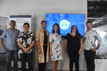 L'équipe de Tahiti Tourisme et ses partenaires pour le projet Maeva Hébergement.