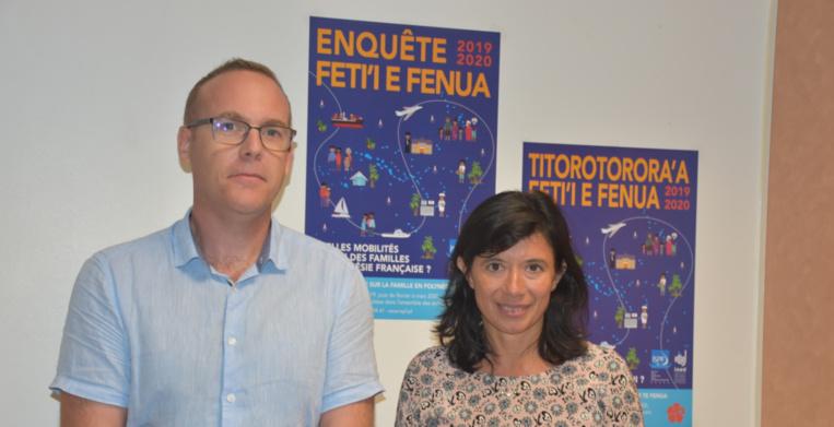 Nicolas Prud'homme, directeur de l'Institut de Statistiques de Polynésie française et Magda Tomasini, directrice de l'Institut national d'études démographiques.