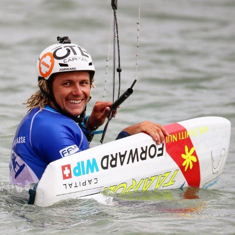 Théo Lhostis n'a pas particpé à la dernière étape de la Coupe du monde de kitefoil