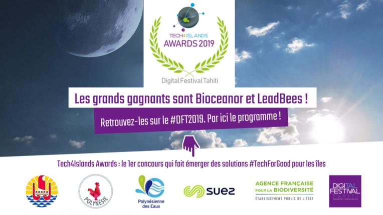 Bioceanor et LeadBees lauréats des Tech4Islands Awards 2019
