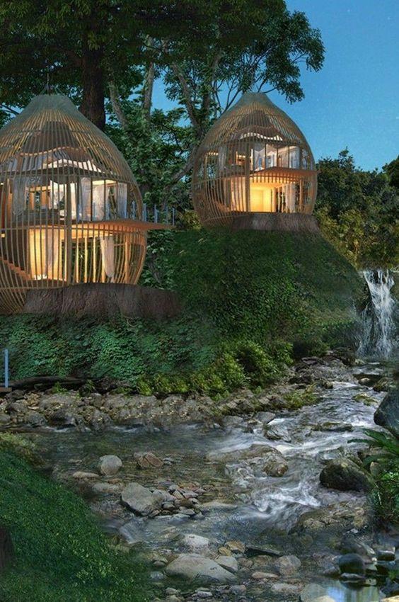 Avec un entrepreneur privé, l'Institut développe un concept d'éco-lodge inspiré des écosystèmes coralliens pour son refroidissement, et combinant permaculture sur terre et culture corallienne dans le lagon (photo d'illustration d'un autre projet similaire).