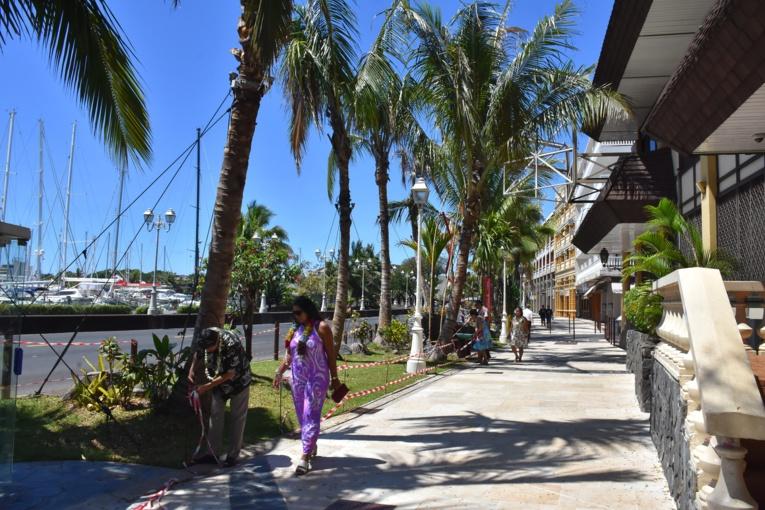 """La """"promenade des Polynésiens"""" comme la nomme Michel Buillard, maire de Papeete,  s'étend sur tout le long du boulevard de la reine Pōmare."""