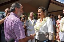 Visite de courtoisie républicaine à l'assemblée de la Polynésie française
