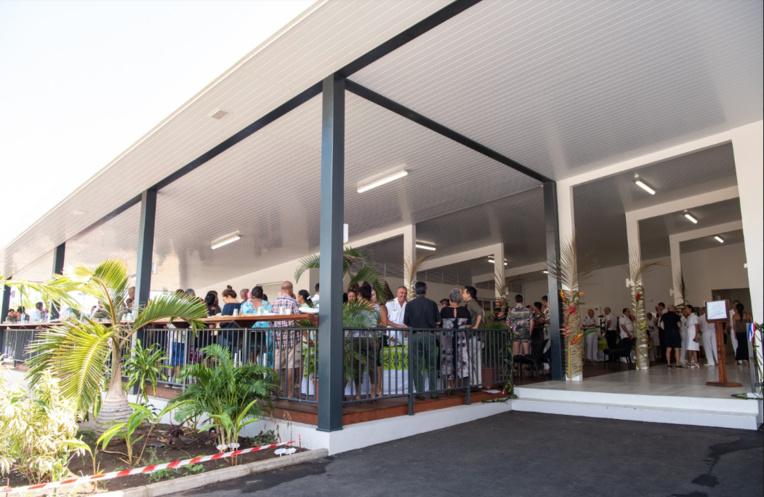 Le nouveau mess de la caserne Broche à Arue a été inauguré ce mercredi. Crédit FAPF